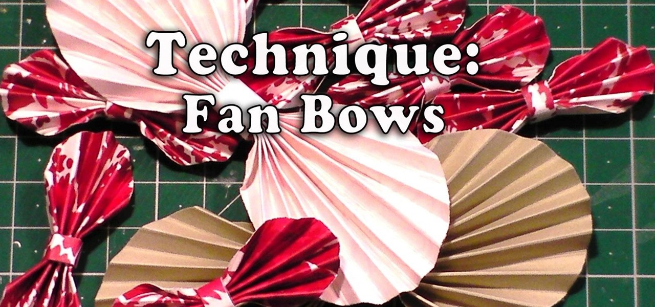 Make Paper Fan Bows for Your Crafts