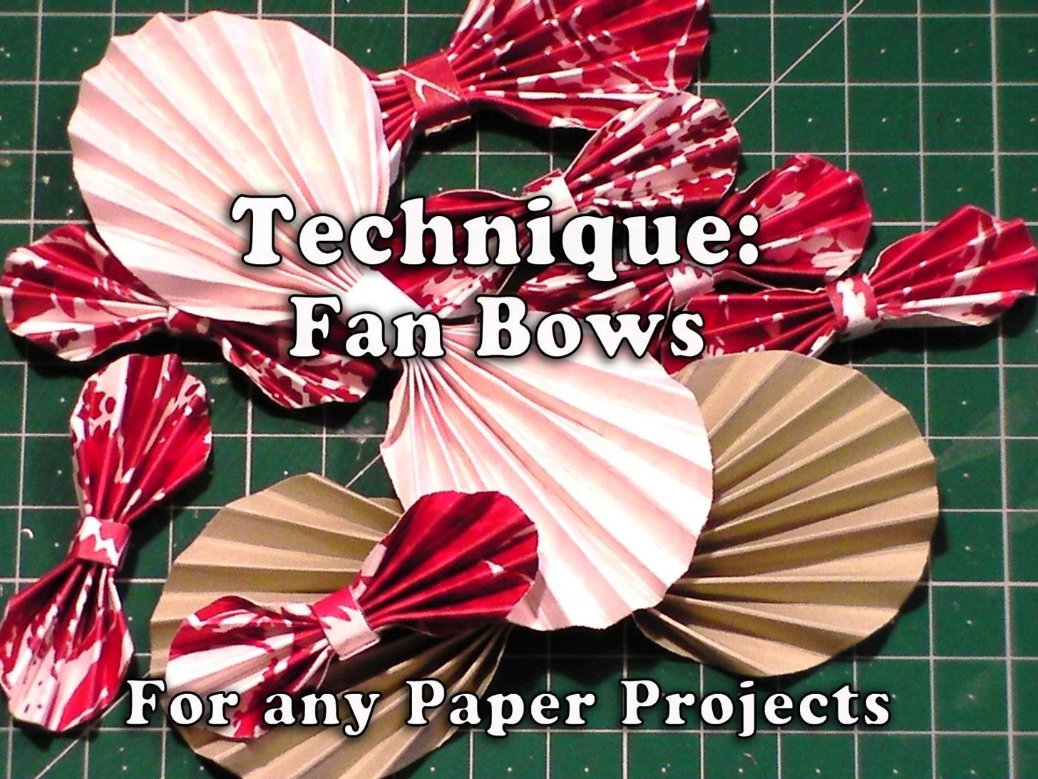 How to Make Paper Fan Bows for Your Crafts