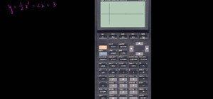 Solve a quadratic equation with a graphing calculator