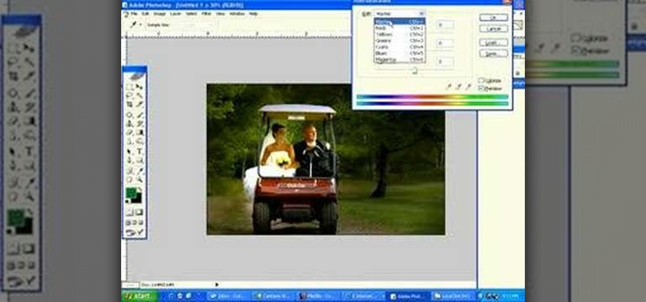 photoshop how to change an image color