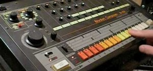 Program a Roland TR-808 drum machine
