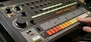 Program a Roland TR-808 drum machine
