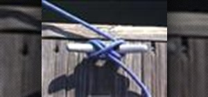 Apply a cleat hitch knot