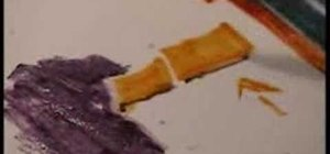 Use watercolor pencil techniques