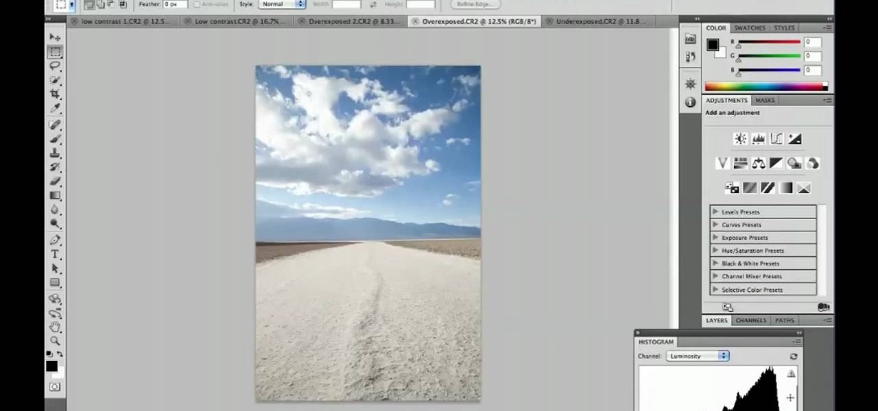 how to read a histogram in photoshop