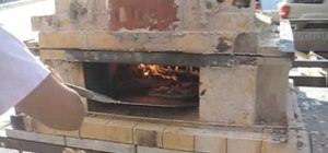 Make and cook a brick-oven pizza