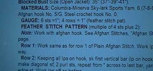 Read a written crochet pattern