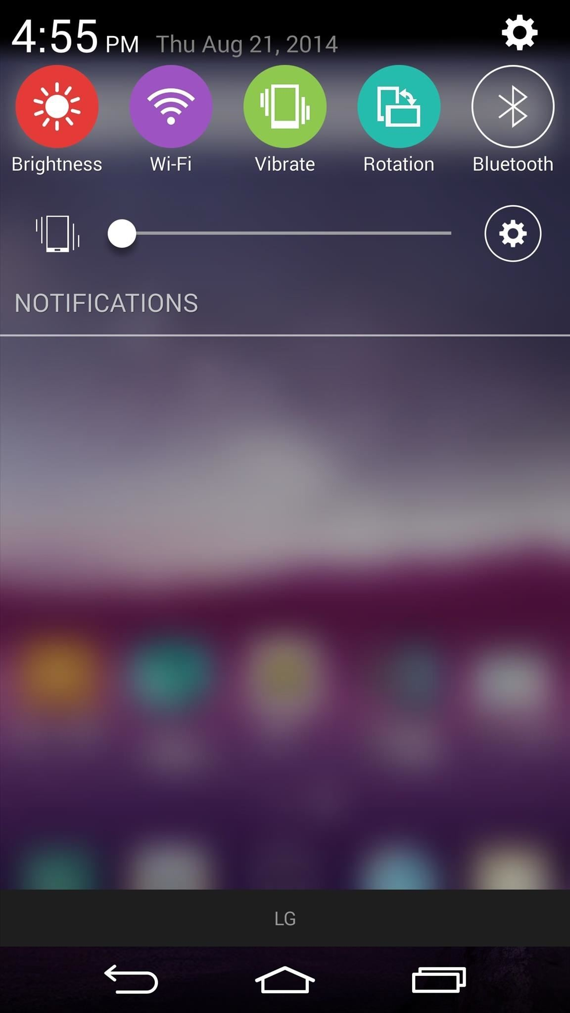 Theme the Quick Settings Icons on Your LG G3