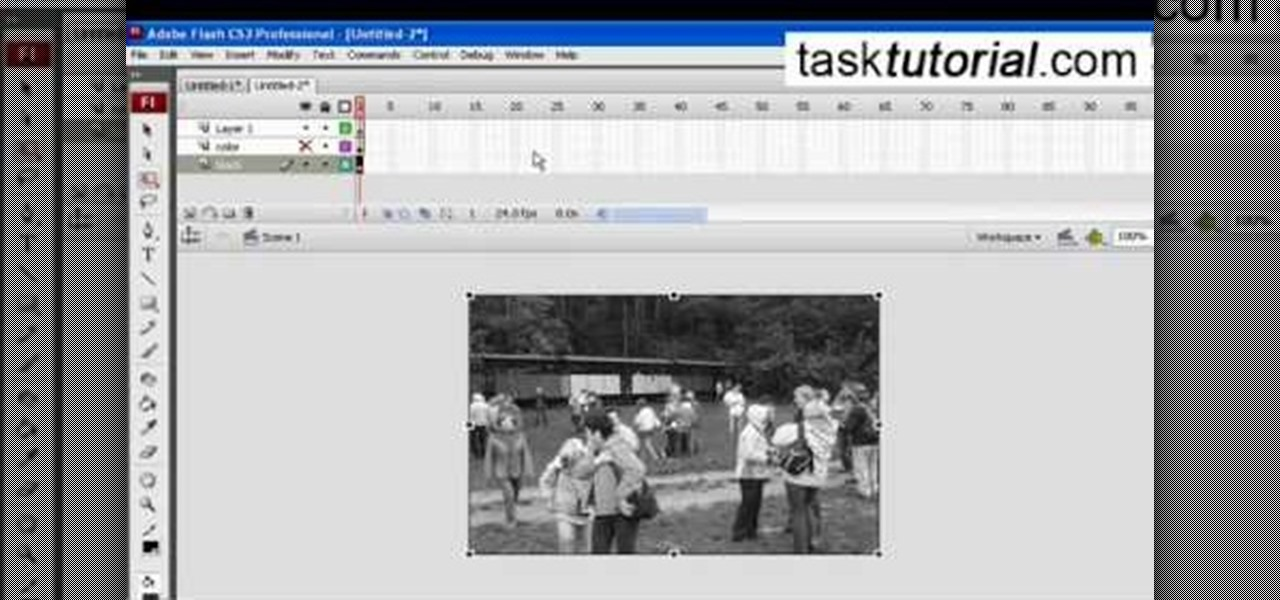 How to Create a black & white mask animation in Flash