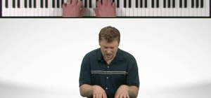 Properly place your hands when playing the piano