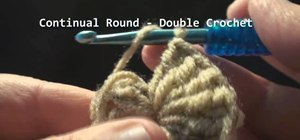 Crochet the start of a continual round