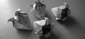 Fold an origami bell flower