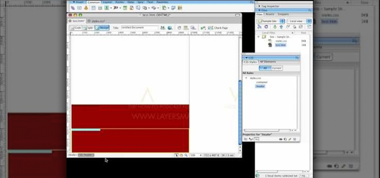 How to use css and div tags for columns in dreamweaver adobe dreamweaver wonderhowto - Div tag css ...