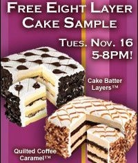 Free cake alert! Valid Nov 16 only from Coldstone!