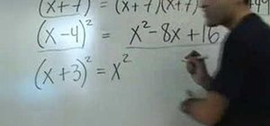 Factor perfect square polynomials