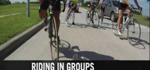 Maintain proper etiquette when road biking in groups