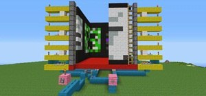 Create a Working Movie Screen in Minecraft with Pistons and Redstone
