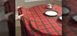 Pull off the tablecloth trick