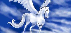 Draw a pegasus, a fantasy horse with wings