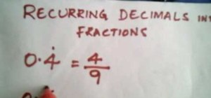 Get a fraction from a recurring decimal