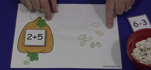 Develop a child's math skills with pumpkin seeds