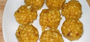 Make Indian style boondi ladoo with Manjula