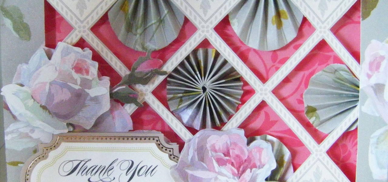Make a Rose Paperfolding Fan Card