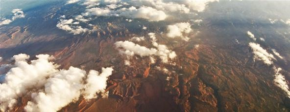 Bird's Eye View Challenge: Aerial Panorama of Arizona (I think) from a 737