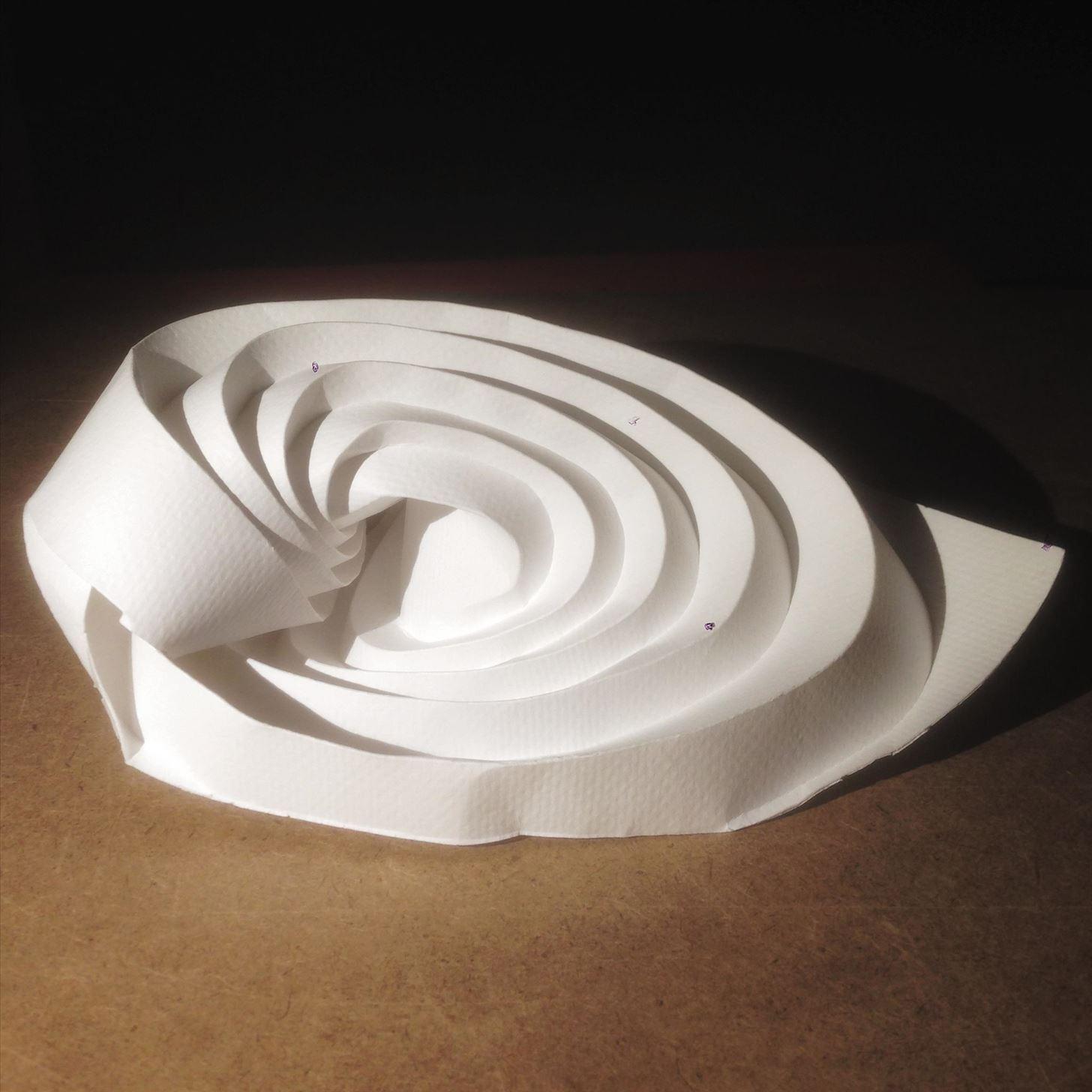 Curvy origami designs I am working on: