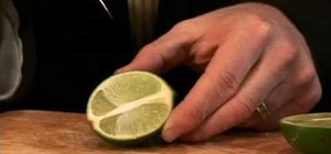 Cut a perfect lime wedge