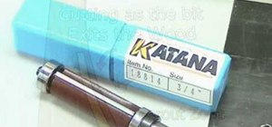 Use a Katana flush router bit for woodworking