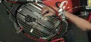 Start crosses on the tennis racket w/ a starting clamp