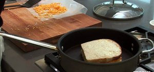 Make a tasty grilled cheese sandwich