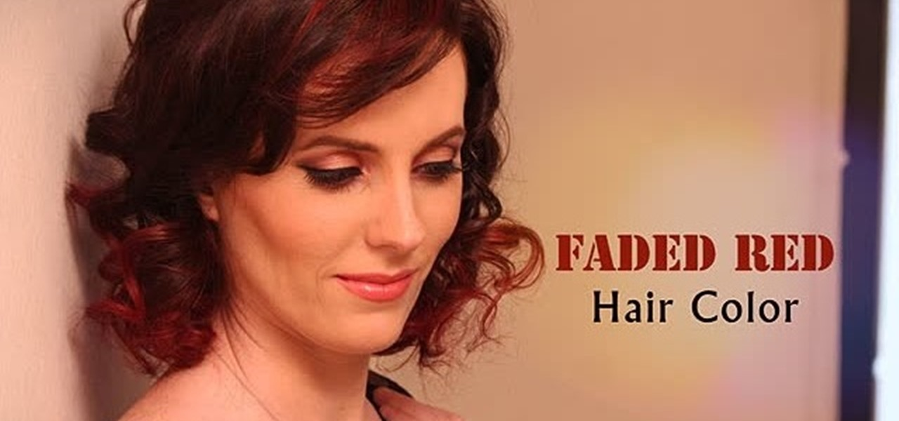 How To Faded Red Hair Color Hairstyling Wonderhowto