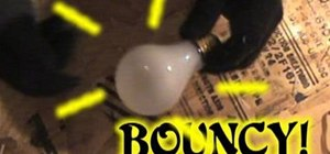 Make a bouncy lightbulb covered in rubber bands