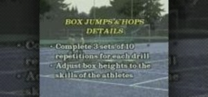 Practice box jumps and runs for soccer