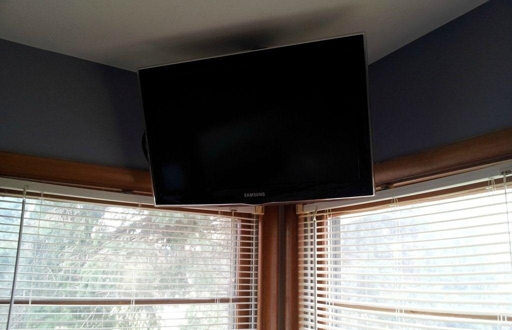 How To Build A Simple Flat Screen Tv Ceiling Mount From Unistrut And Pipe Macgyverisms Wonderhowto