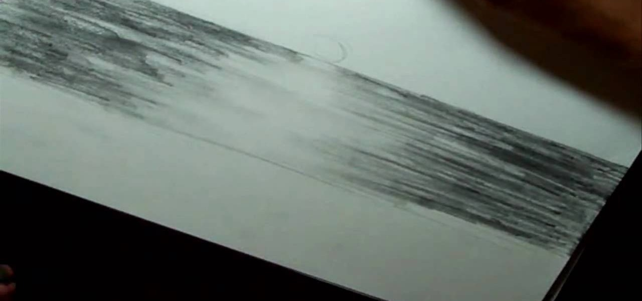 How To Draw An Ocean Landscape Drawing Illustration WonderHowTo