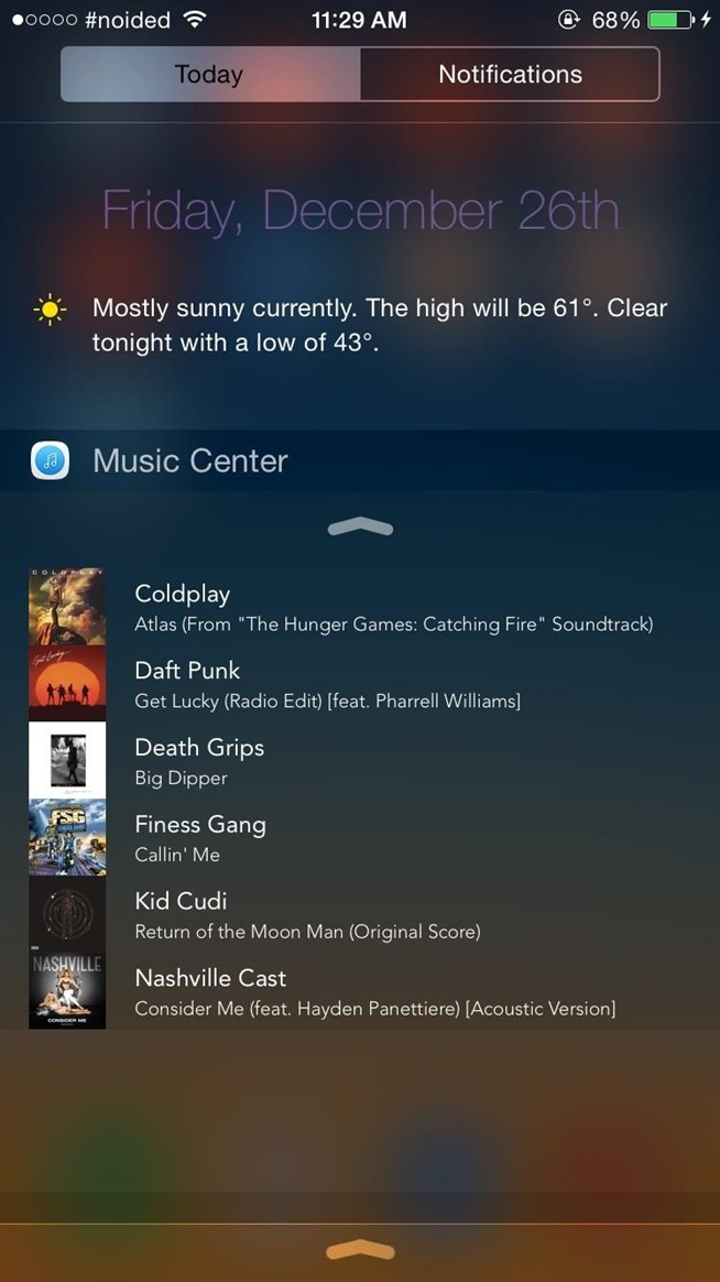 Browse & Play Your Entire Music Library Directly from the Notification Center