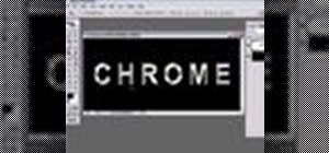 Create a chrome text effect in Photoshop