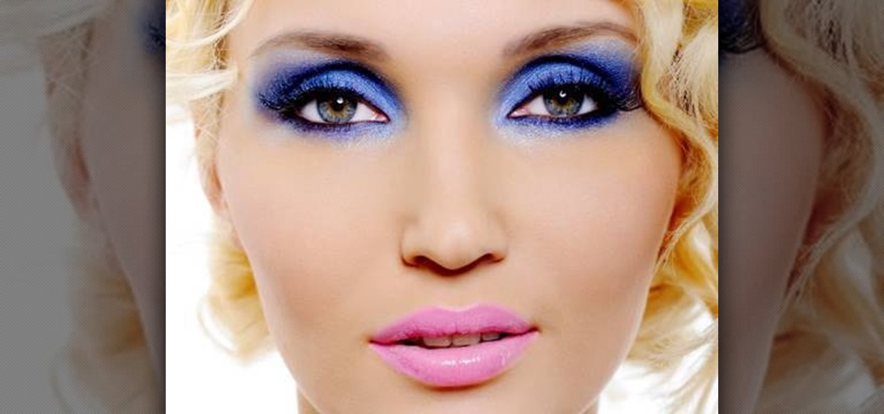 Natural makeup for blue eyes