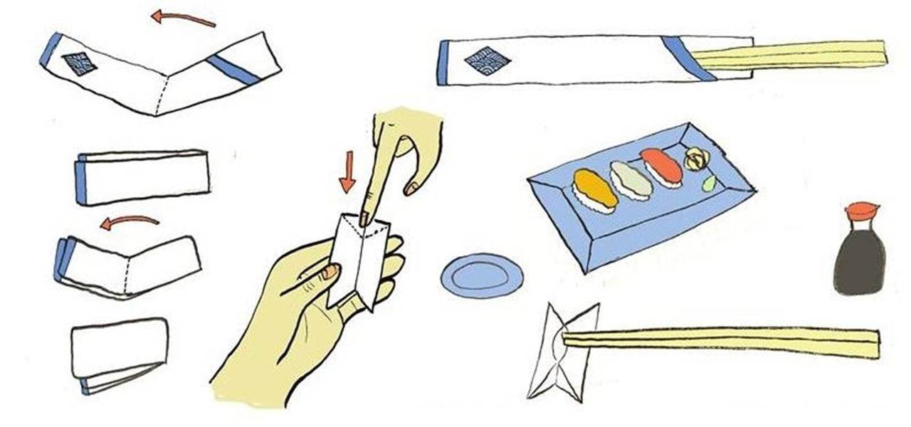 Fold a Chopsticks Rest from Its Paper Wrapper