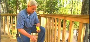 Build handrails for your deck