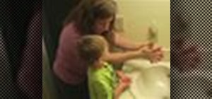 Teach a toddler to wash their hands