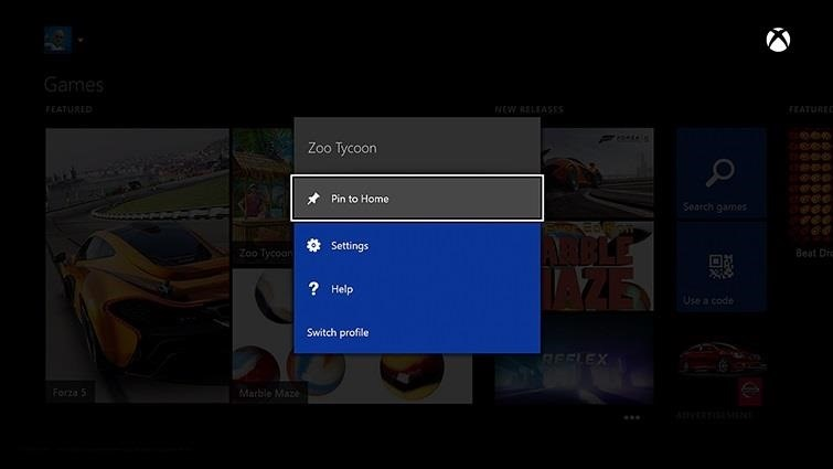 How to Pin Your Favorite Apps & Games to the Xbox One Home Screen