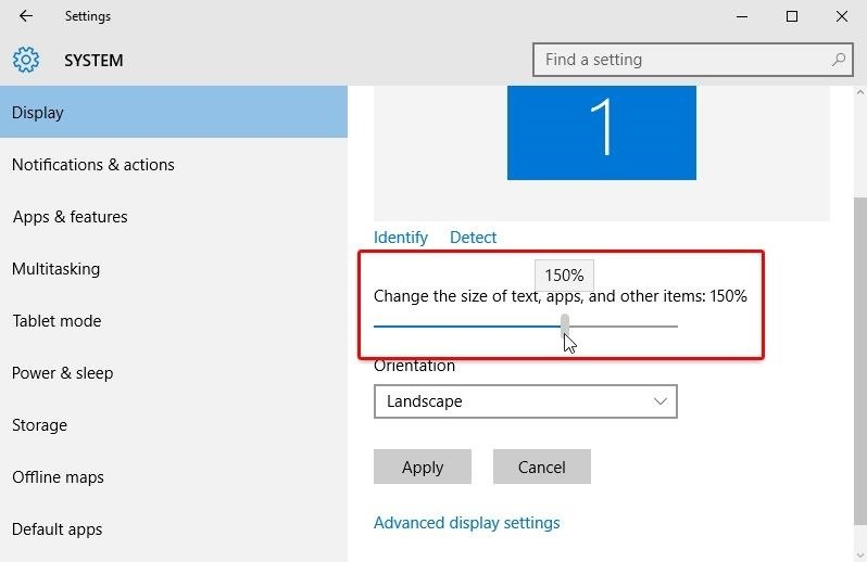 windows 10 how to use trackpad to change destop