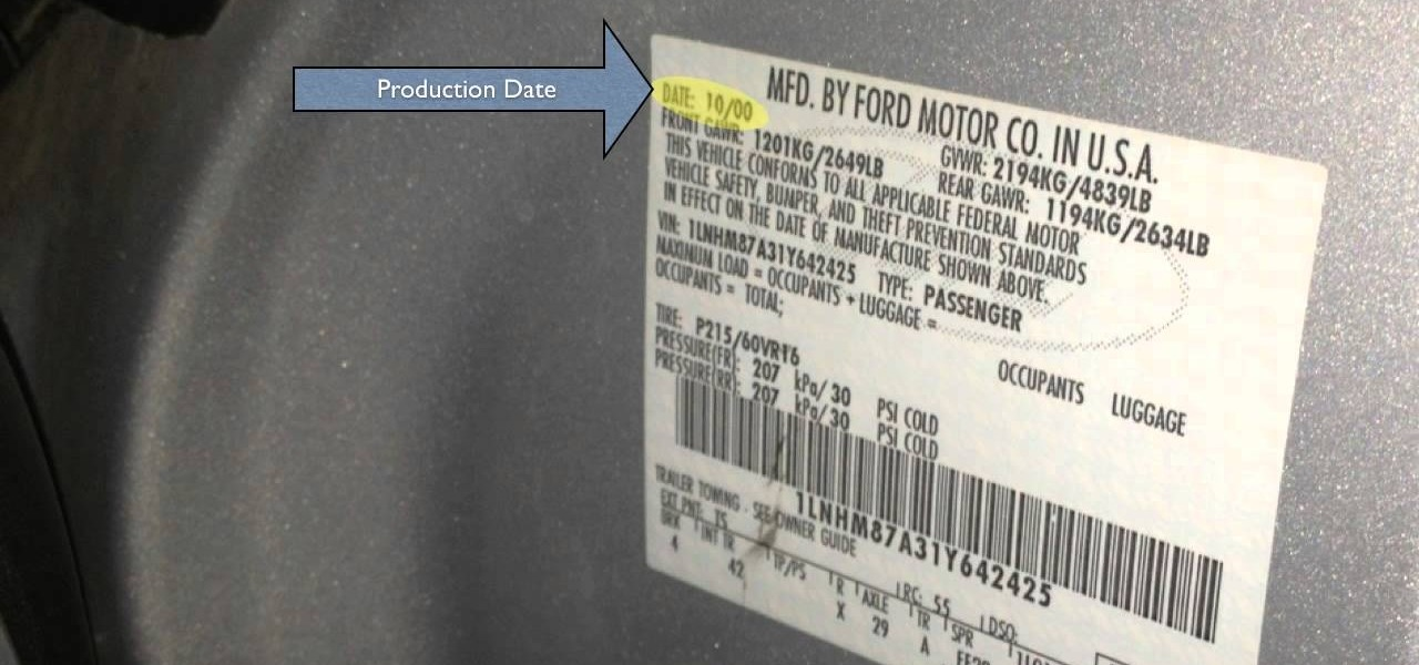 How to Find the Paint Code on a Lincoln LS - 2000 - 2006 � DIY ...
