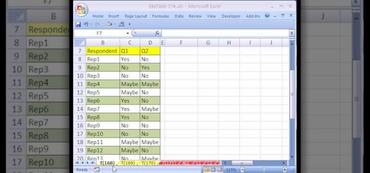 Microsoft Excel Templates 2007