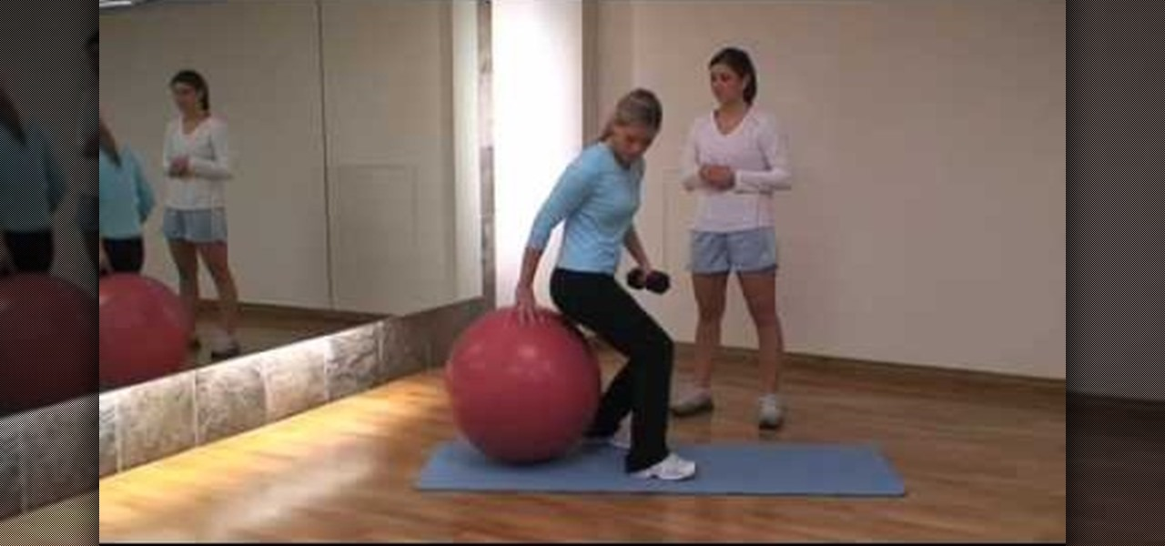 How to Get a flat stomach with a fitness ball workout ...