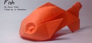 Make a plump origami goldfish with Jo Nakashima
